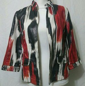 Chicos Open Cardigan Jacket Blazer Size 0 (S)